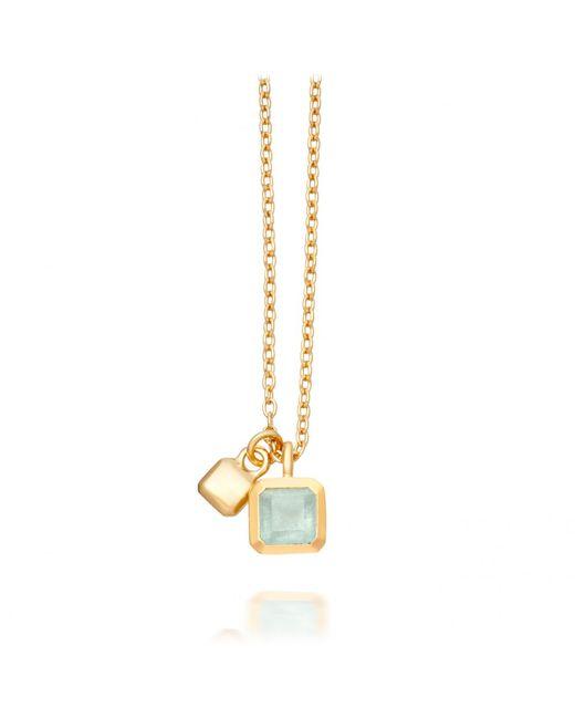 Astley Clarke | Metallic Aqua Quartz Square Prismic Pendant | Lyst