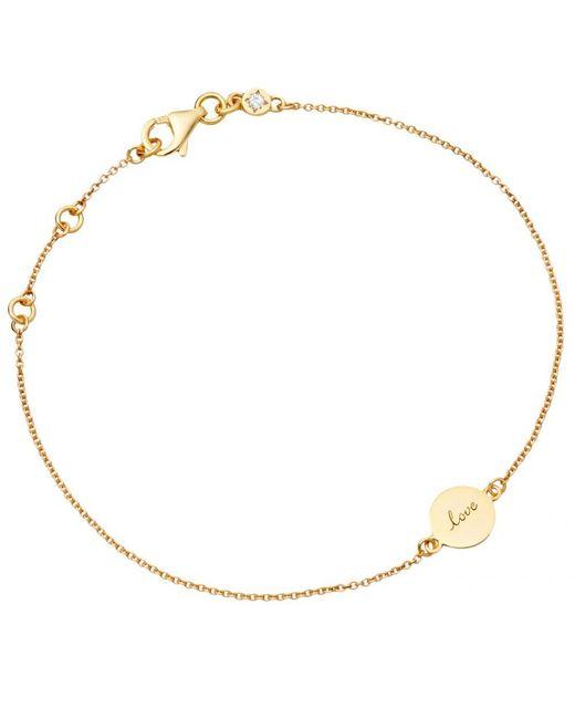 Astley Clarke   Metallic Tiny Love Disc Bracelet   Lyst