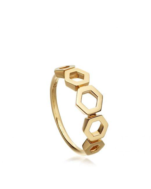 Astley Clarke   Metallic Plain Honeycomb Ring   Lyst