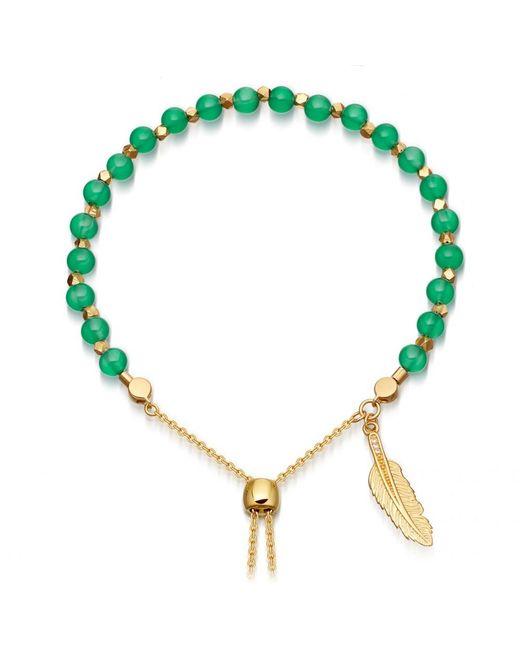 Astley Clarke | Green Onyx Super Kula Feather Bracelet | Lyst