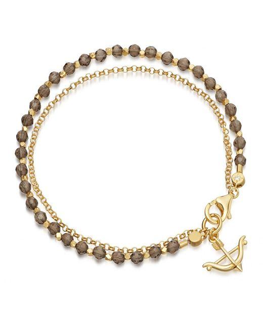 Astley Clarke | Multicolor Smoky Quartz Bow And Arrow Biography Bracelet | Lyst