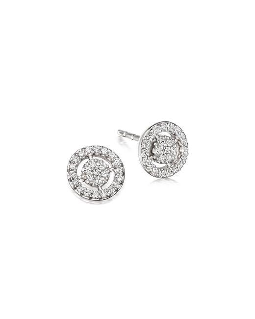 Astley Clarke - White Mini Icon Aura Stud Earrings - Lyst