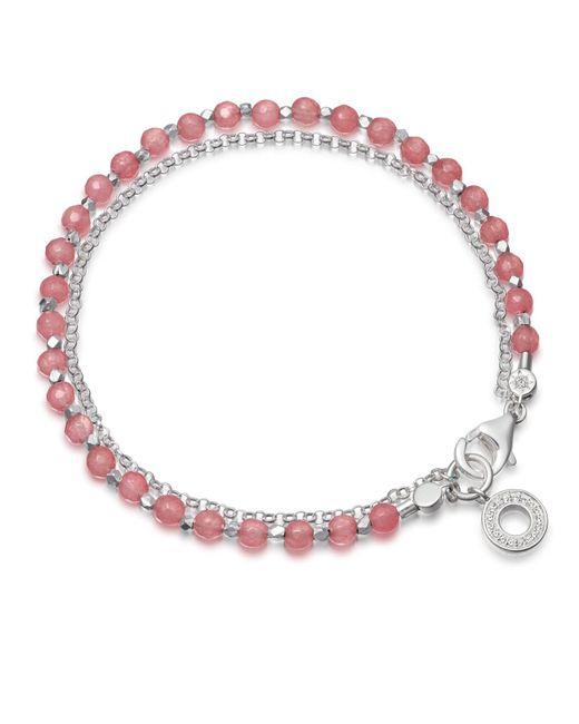 Astley Clarke - Pink Rose Quartzite Mini Halo Biography Bracelet - Lyst