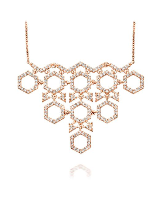 Astley Clarke - Metallic Honeycomb Necklace - Lyst