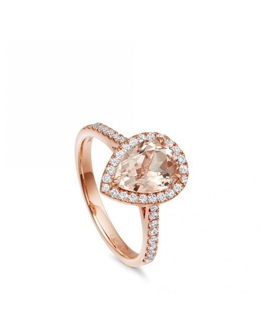 Astley Clarke - Multicolor Morganite Pear Tearoom Ring - Lyst