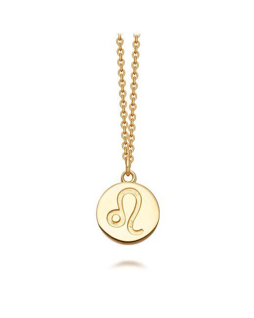 Astley Clarke - Metallic Gold Leo Zodiac Biography Pendant Necklace - Lyst