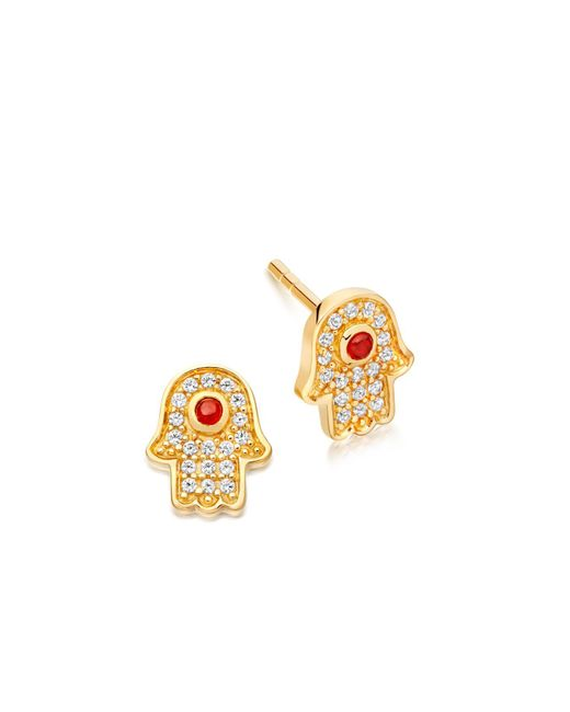 Astley Clarke | Metallic Mini Hamsa Biography Stud Earrings | Lyst