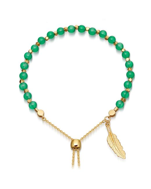 Astley Clarke | Green Onyx Super Kula Feather Bracelet | Lyst