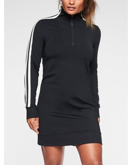 1e0822b365c Athleta Circa Track Sweatshirt Dress in Black - Lyst