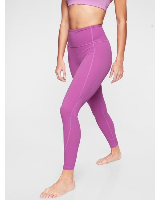 9fccdbf0c4d67d Athleta Salutation 7/8 Tight In Powervitatm in Pink - Lyst