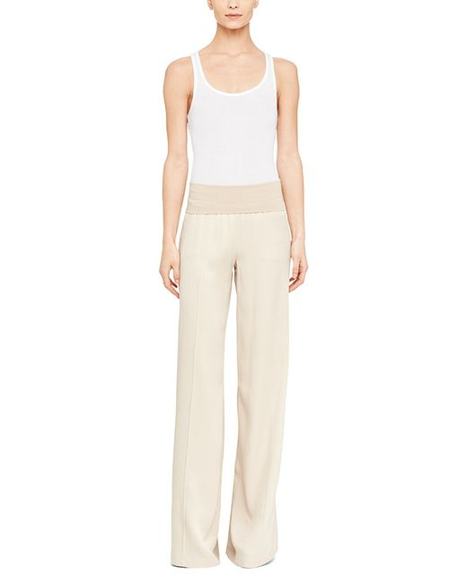 Atm Wide Leg Yoga Pant In Beige (Almond)
