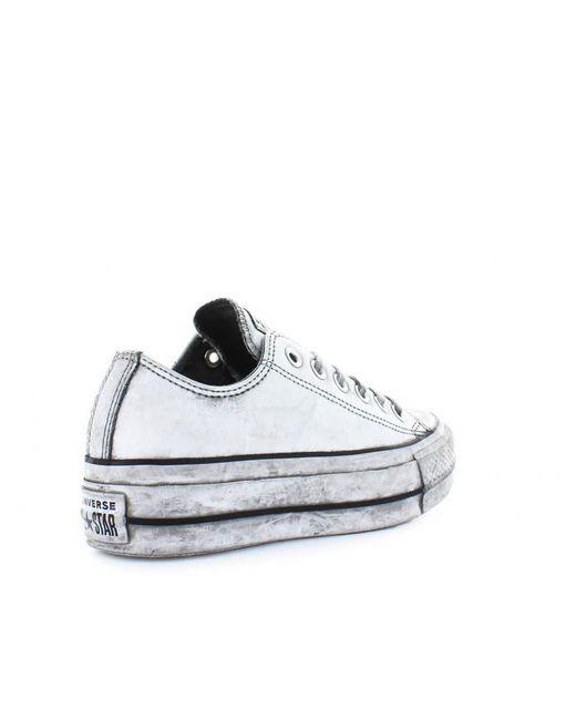 faa5f124e2a ... Converse - All Star Platform White Smoke In Sneaker - Lyst ...