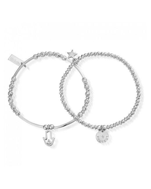 Chlobo Metallic Protection Set Of 2 Bracelets Lyst