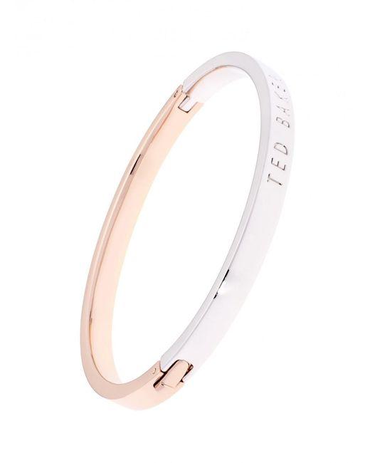 Ted Baker - Women's Clemea Hinge Metallic Bangle Bracelet - Lyst