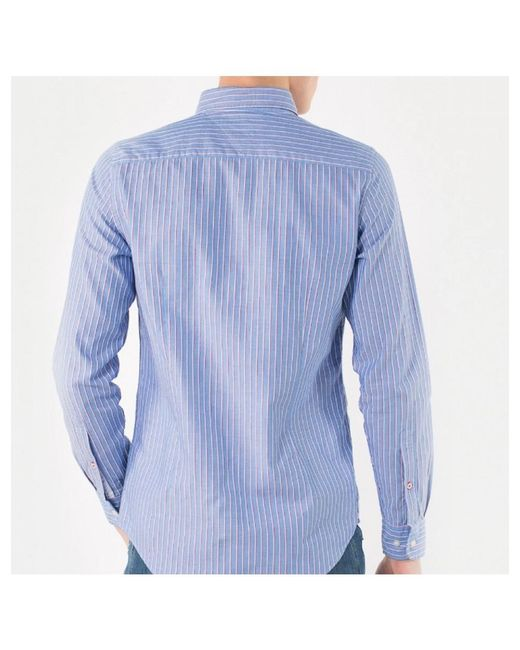 f4d30b734af9 Tommy Hilfiger - Blue Multi Stripe Dobby Long Sleeve Shirt for Men - Lyst  ...