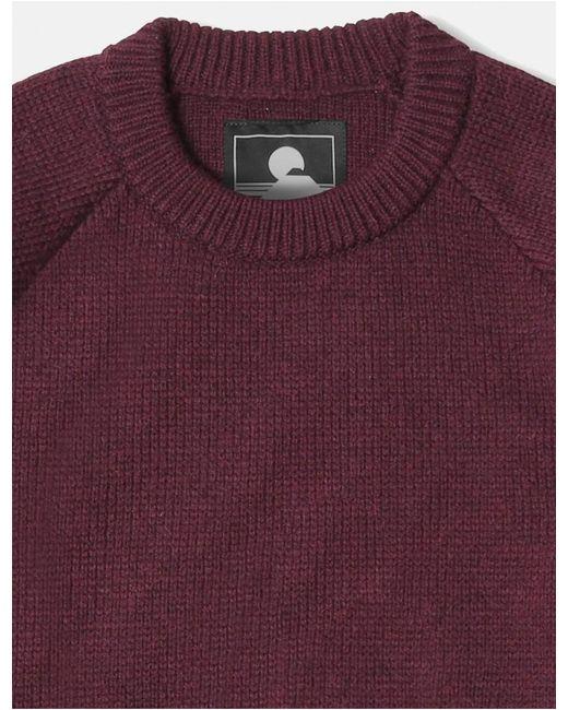 Edwin Purple Big Knit Jumper for men