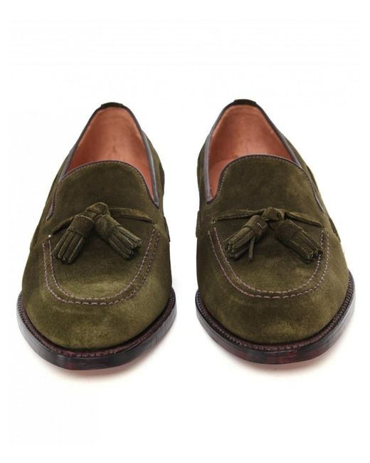 f8ca3f4931090 ... Loake - Green Suede Lincoln Tassel Loafers for Men - Lyst ...