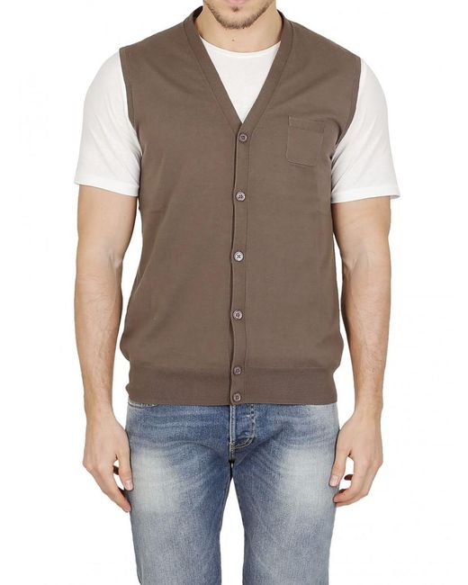 4fe6d928ef726 Lyst - Paolo Pecora Cardigan In Brown in Brown for Men