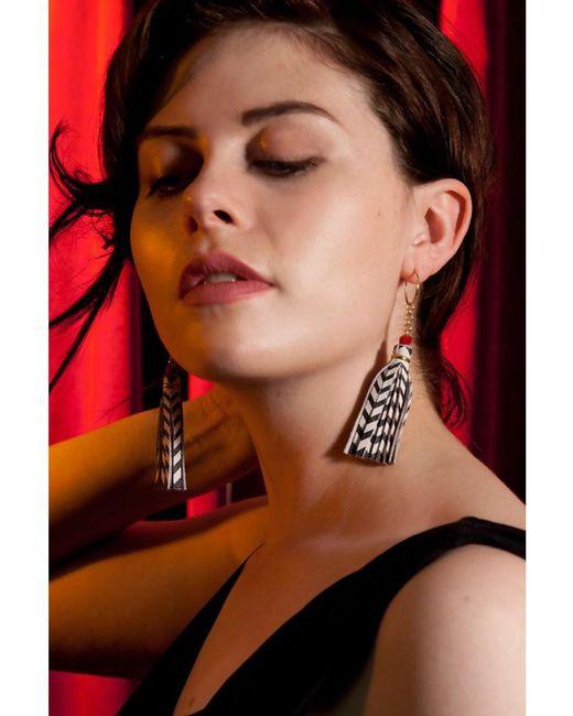 Rosita Bonita - White Twin Tassel Earrings - Lyst