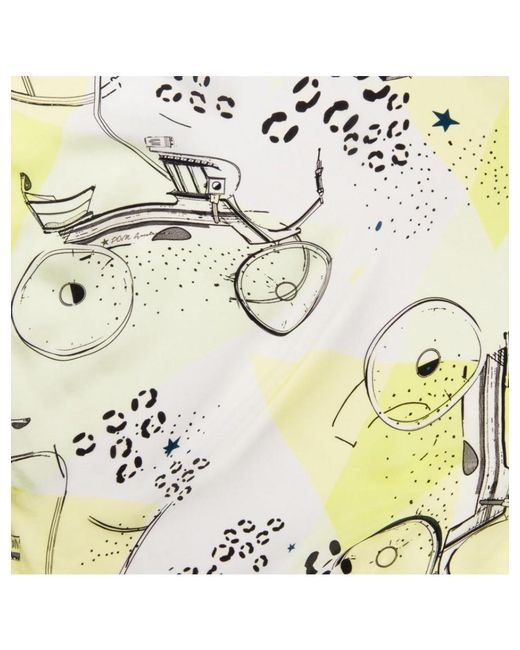 POM Amsterdam - Carriages Lime Green & Yellow Print Scarf - Lyst