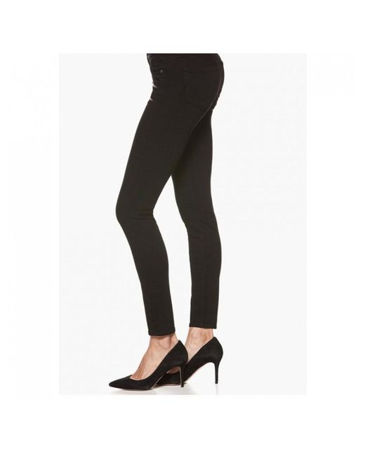 PAIGE - Black Edgemont Mid Rise Skinny Jeans - Lyst