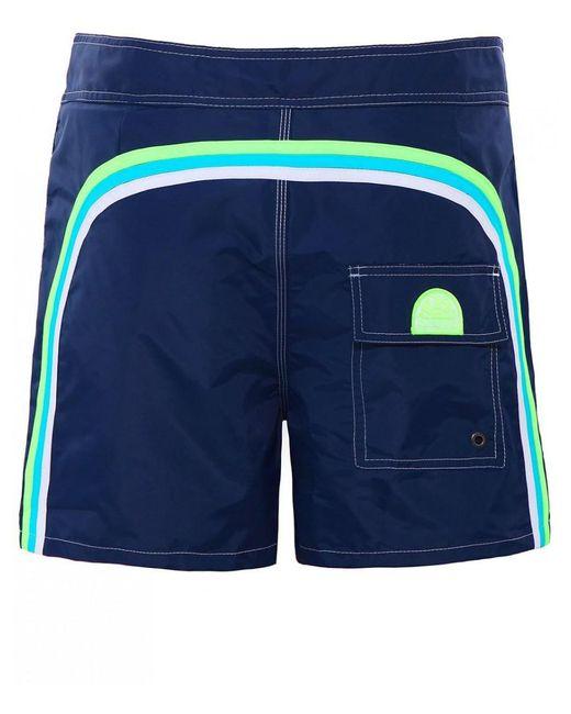 Sundek - Blue Mid-length Board Shorts for Men - Lyst