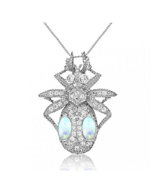 V Jewellery - Metallic Jewel Beetle Pendant - Lyst