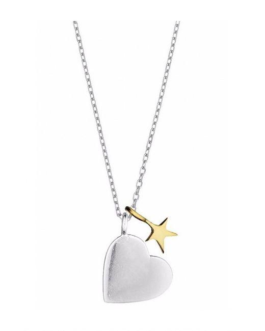 Estella Bartlett - Metallic Heart And Star Necklace - Lyst