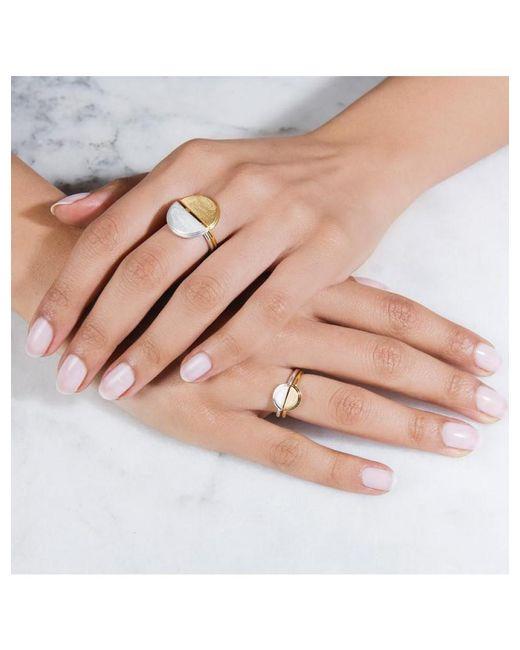 Rachel Jackson - Metallic Mini Half Moon Silver Adjustable Ring - Lyst