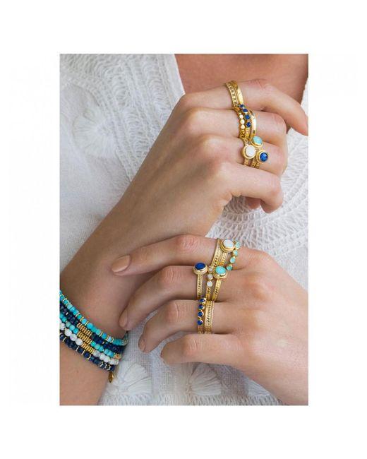 Anna Beck - Metallic Wisdom Blue Lapis Single Stone Ring - Lyst