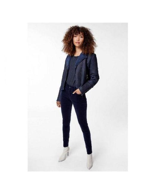 J Brand - Blue Maria High Rise Velvet Skinny - Lyst