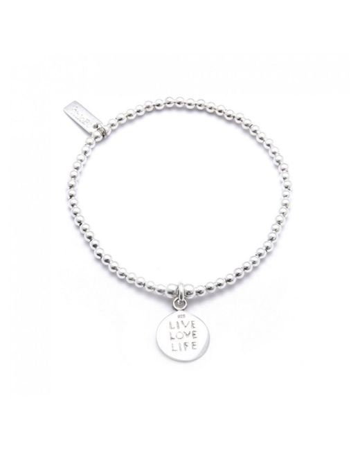 ChloBo - Metallic Cute Charm Bracelet With Live Love Life Charm - Lyst
