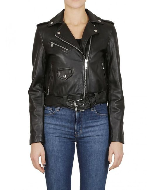 MICHAEL Michael Kors - Leather Jacket In Black - Lyst