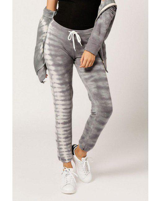 Monrow | Gray Tie Dye Sweat | Lyst