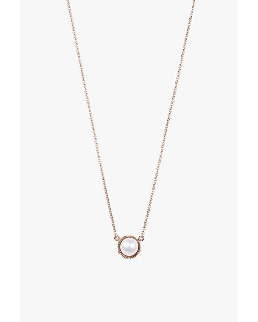 Grace Lee | Metallic Crown Bezel Necklace | Lyst