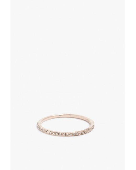 Gabriela Artigas | Metallic 14k Rose Gold White Diamond Ring | Lyst