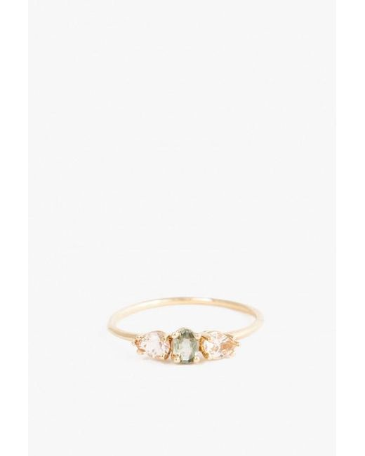Lumo | Multicolor Green Sapphire With Morganite Ring | Lyst