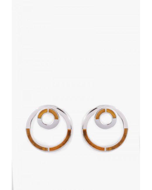 Pamela Love | Metallic Sterling Silver Quarter Earrings | Lyst
