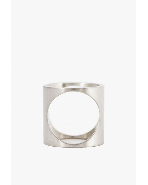 Marmol Radziner | White Lightweight 2 Way Circle Ring | Lyst