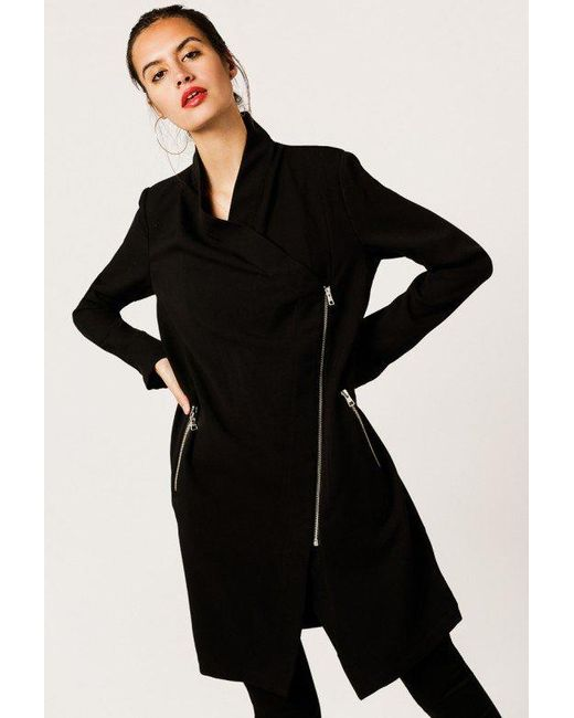 SOIA & KYO | Black Mollie Drapy Jacket | Lyst