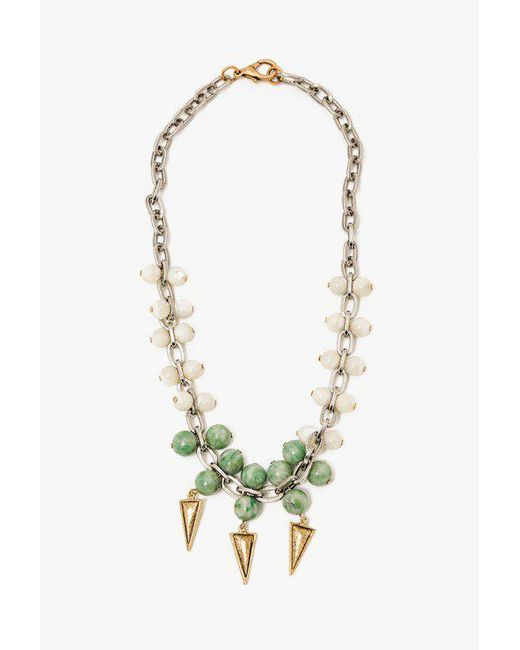 Nicole Romano - Metallic Jade Mother Of Pearl Necklace - Lyst
