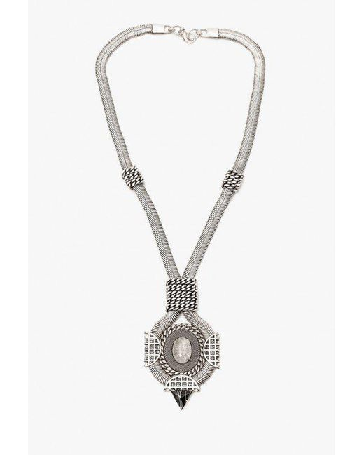 Nicole Romano - Metallic Chain W/ Medallion Necklace - Lyst