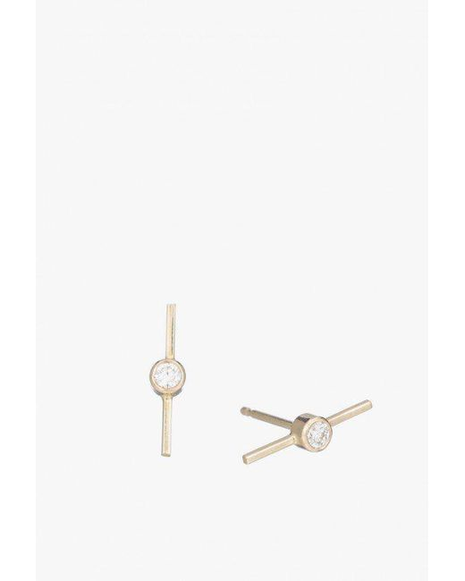 Ariel Gordon - Multicolor Diamond Axis Stud Earrings - Lyst
