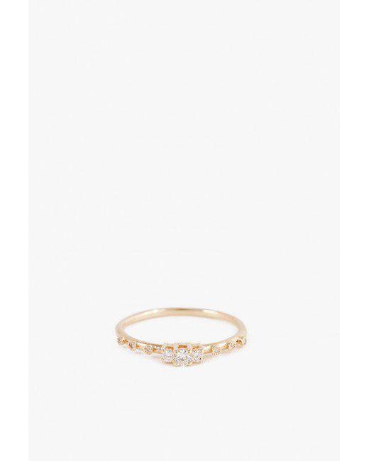 Jennie Kwon | Metallic Diamond Beacon Ring | Lyst