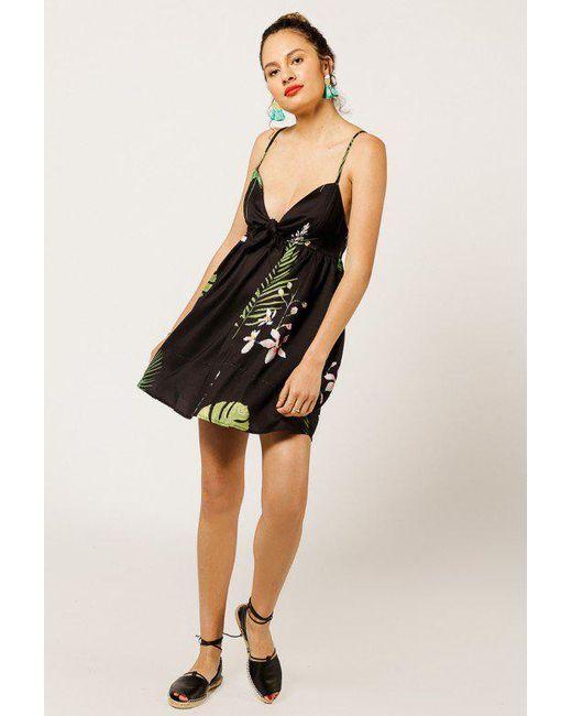 Azalea | Black Tropical Print Mini Dress | Lyst