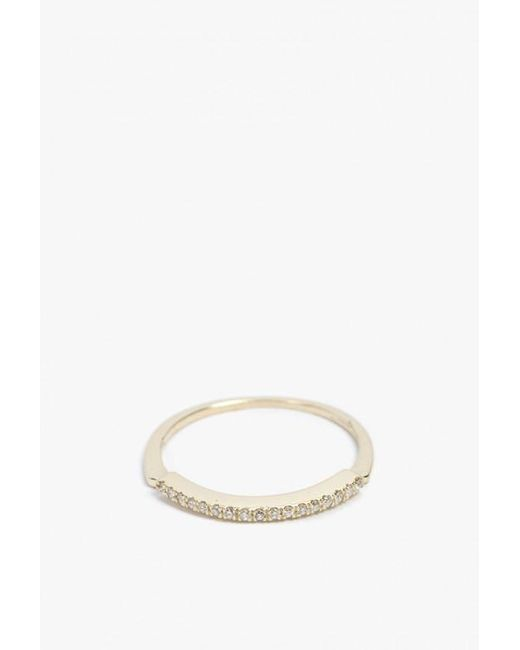 Mociun | Metallic Notched Wedding Band | Lyst