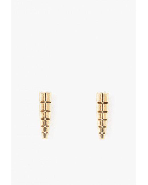 Nicole Romano   Metallic Keystone Earrings   Lyst