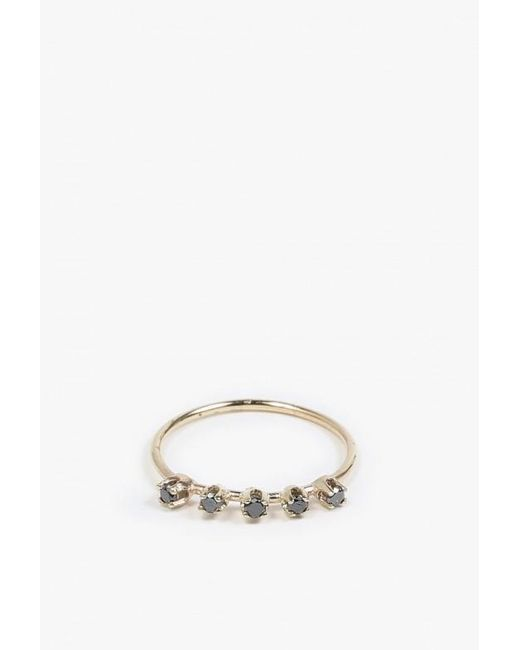 Loren Stewart | Metallic Five Diamond Prong Ring | Lyst