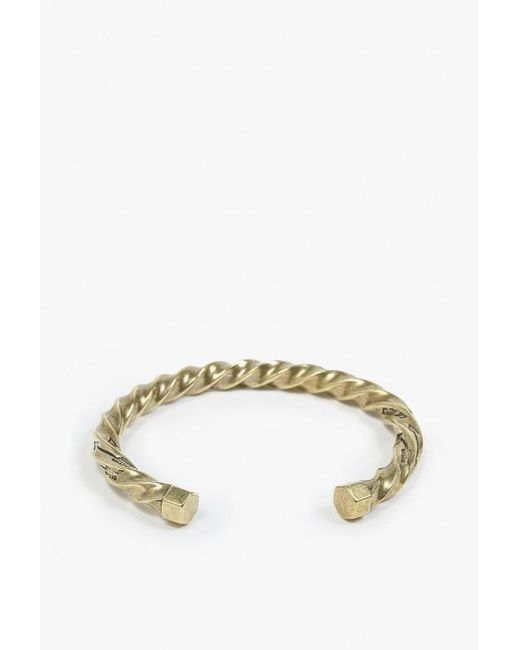 Giles & Brother | Metallic Twisted Cuff | Lyst