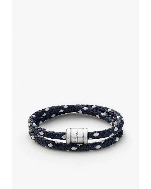 Miansai - Blue Two-tone Leather Bracelet - Lyst